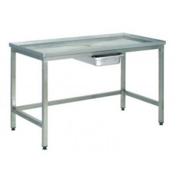 Table inox de Poussage