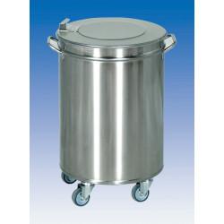 Bacs à déchets Inox - couvercle simple