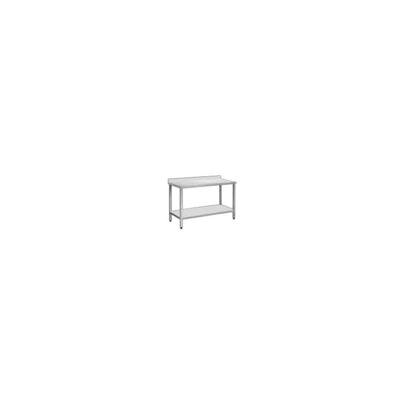 Table Adossée soudée - avec étagère pleine