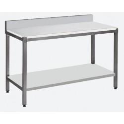 Table de découpe avec étagère adossée