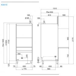 Lave batterie - Panier 60 x 67