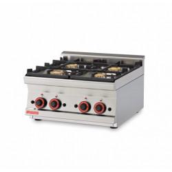 Plan de cuisson professionnel 4 feux - GAZ