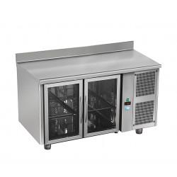 Tour réfrigérée avec ou sans dosseret - 2 portes vitrées - GASTRO