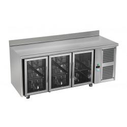 Tour réfrigérée avec ou sans dosseret - 3 portes vitrées - GASTRO