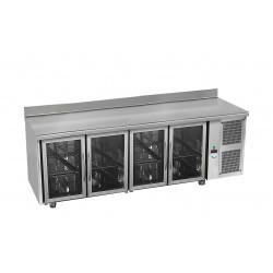Tour réfrigérée avec ou sans dosseret - 4 portes vitrées - GASTRO