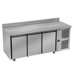 Tour pâtissier réfrigérée - 3 portes - Inox + dosseret