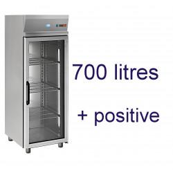 Armoire positive 700 litres porte vitrée GN 2/1