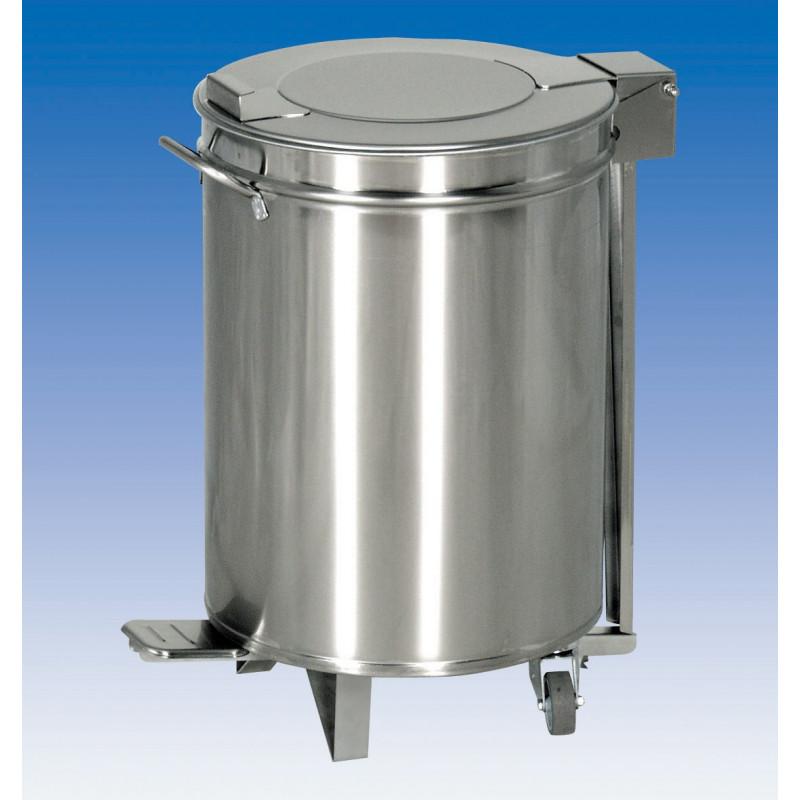 Bacs à déchets Inox - couvercle à pédale